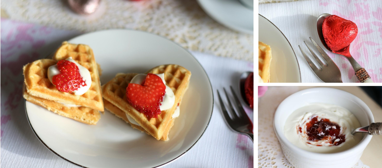 valentinstag waffeln mit erdbeeren gaumen markt blog. Black Bedroom Furniture Sets. Home Design Ideas